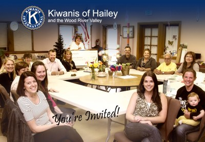 you're invited to join Kiwanis of Hailey