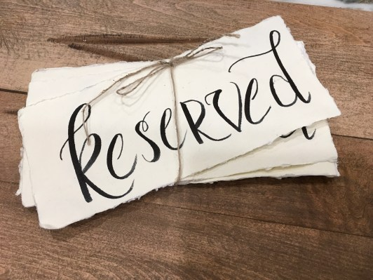 Reserved Signs