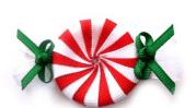peppermint candy hair clip christmas