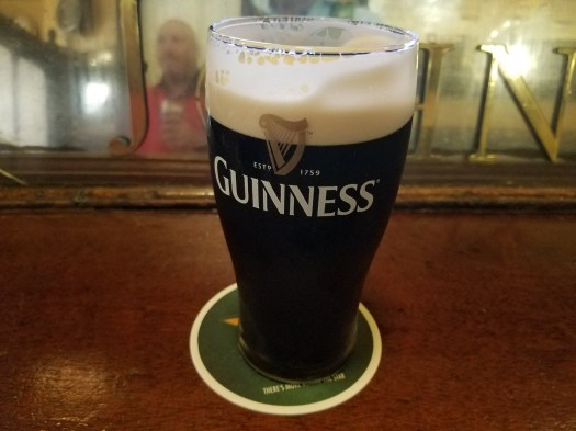 First Guiness in Dublin