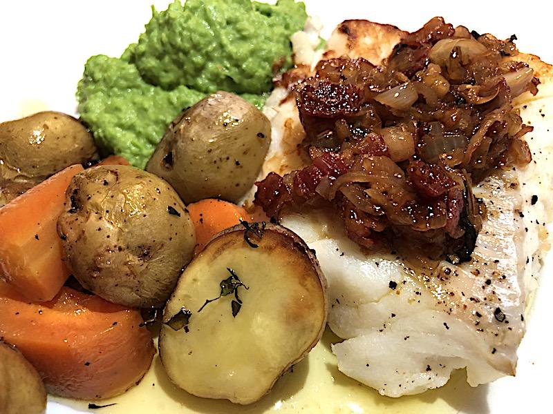 Mat: Stekt torskeloin med baconsmørsaus