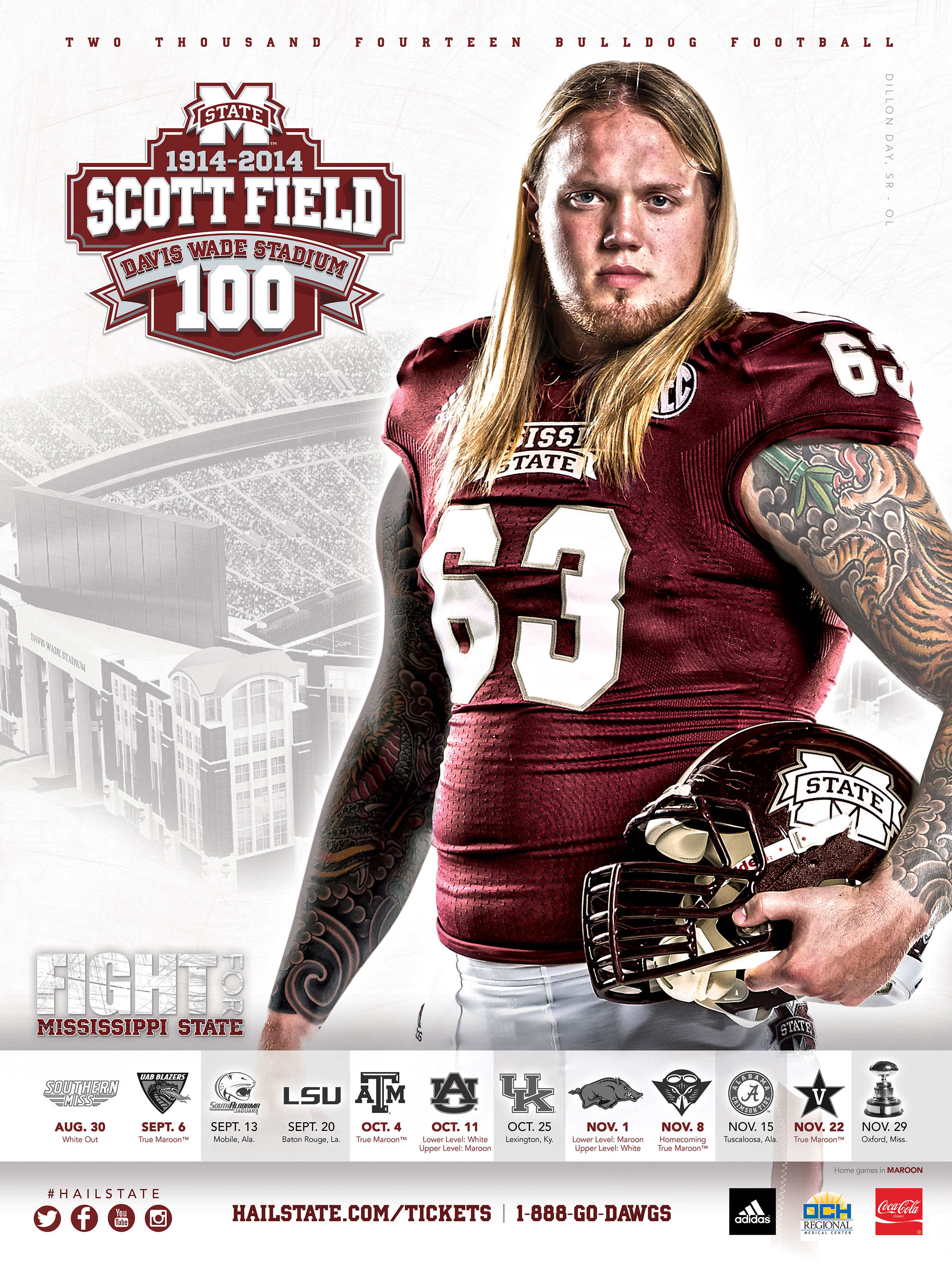 2014 MSU football schedule posters released  HailStateBEAT
