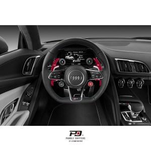 Audi S Tronic Billet Paddle Shift Extension (Red)(v3)