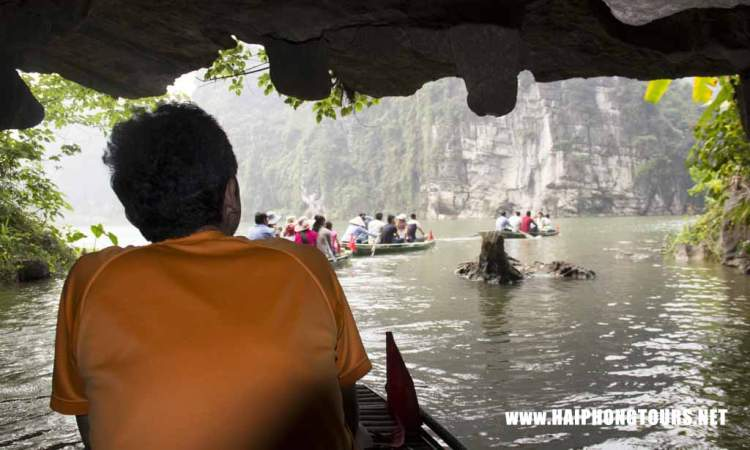 Out of a cave in Trang An