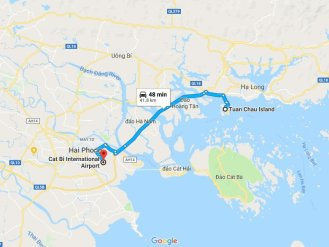 Transportation from Hai Phong to Halong bay