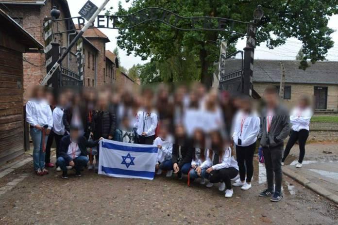 Haifa students on a trip to Poland