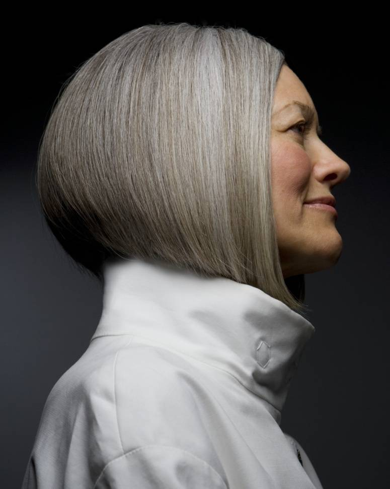 Hairstyle For Mature Women Natural Grey Hair Hairstyles Hair