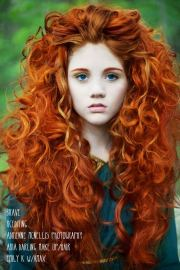 fluffy red curly long hair hairstyles