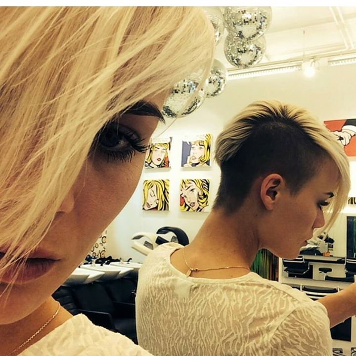 Side Shaved Blonde Hair Hairstyles