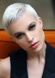 super short white hair hairstyles