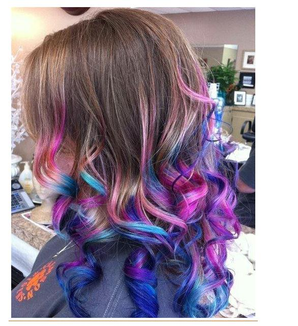 Colorful Ombre Hairstyles