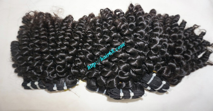 32 Inch Curly Human Hair Weave Extensions Double Drawn
