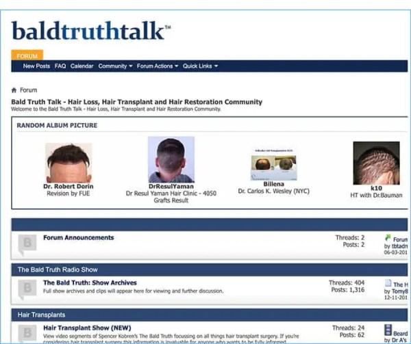 Bald Truth Talk Hair Loss Forum