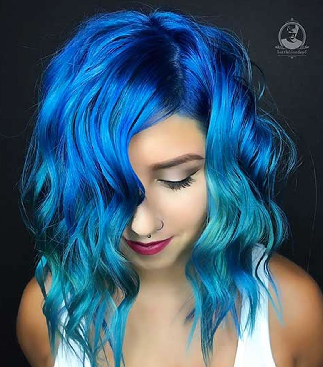 2018 Blue Hair Color Hairstyles For Pretty Women  Hair Colors