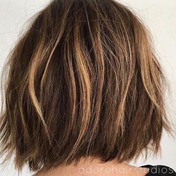 Choppy-Layers Best Short Hair Back View 2019