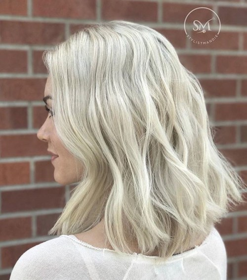 Messy-Long-Bob Best Messy Short Hairstyles Ideas for 2019