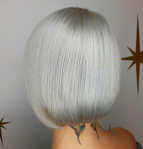 Straight-Bob New Blonde Bob Hairstyles 2019