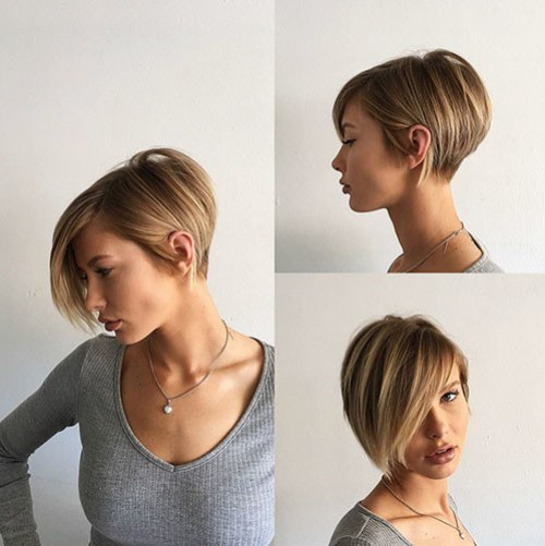 Long-Bangs New Short Haircut Trends Women