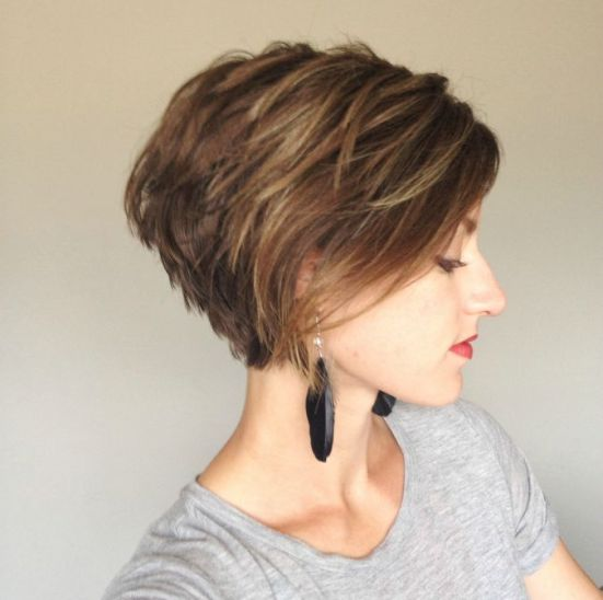 Stacked-Bob-Haircut Best Short Hairstyles for 2019