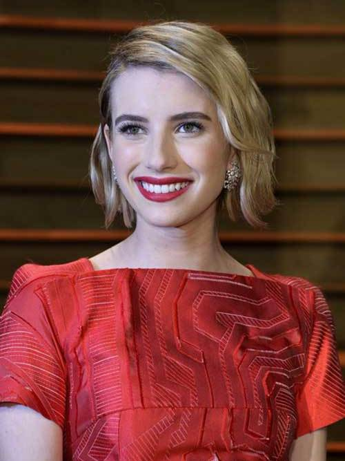 Emma-Roberts For a Different Style: Blunt Bob Haircuts