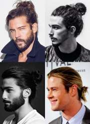 manly man bun & top knot hairstyle