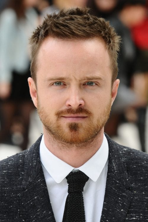 Short textured, hairstyle for big forehead male