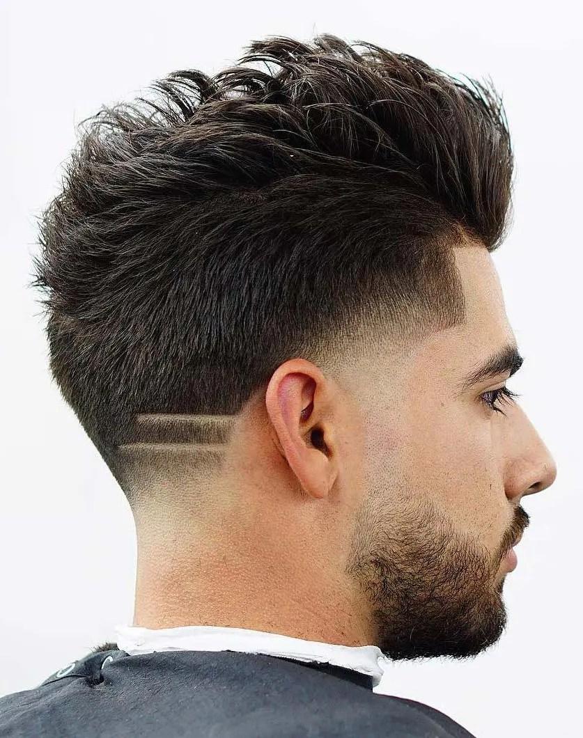 Fade Haircut With Line Design : haircut, design, Neckline, Designs, Patterns