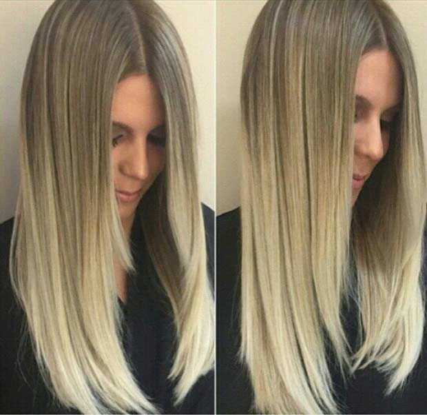 Blonde Ombre Hair Hair Colar And Cut Style