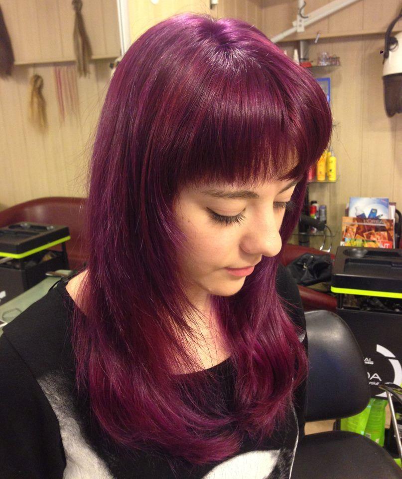 Manic Panic Deep Purple Dream Hair Colar And Cut Style