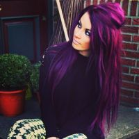 Deep Purple Hair Dye Dark Brown Hairs Of Deep Purple Hair ...