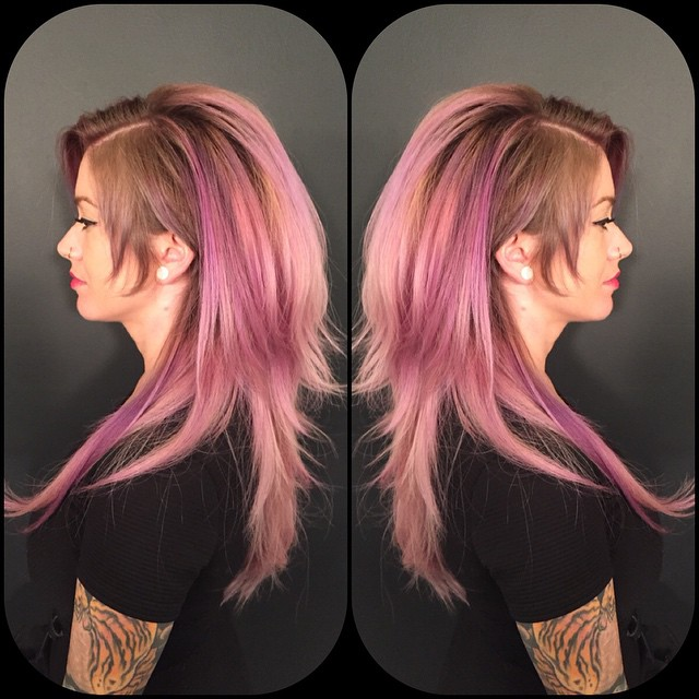 Pink Ombre Hair Colar And Cut Style