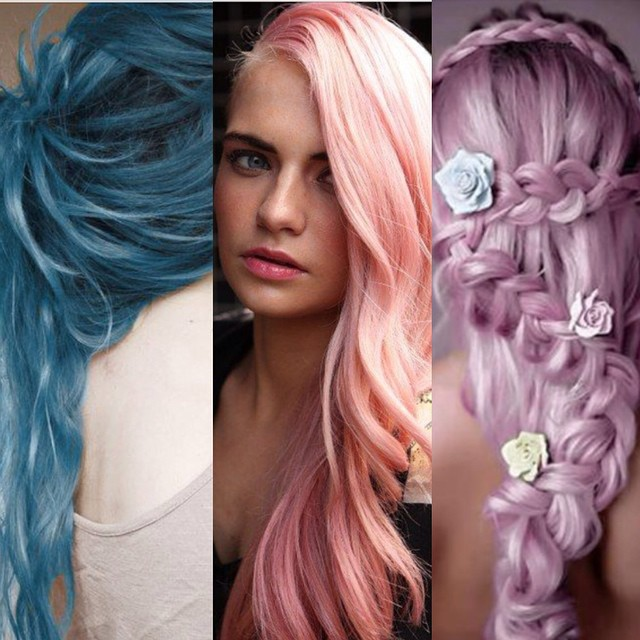 Pink And Peach Ombre Hair Hair Colar And Cut Style