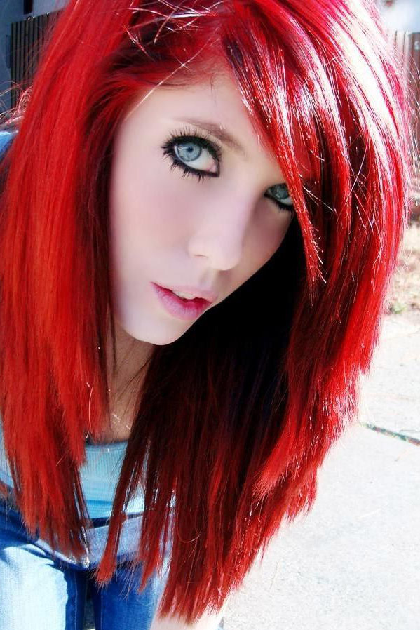 Manic Panic Pillarbox Red Hair Colar And Cut Style