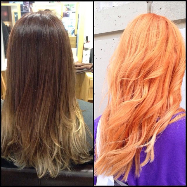 Apricot Hair Color Hair Colar And Cut Style