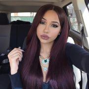 burgundy hair color - colar