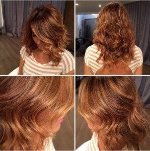 Dark brown Natural looking highlights Formula  Hair Colar And Cut Style