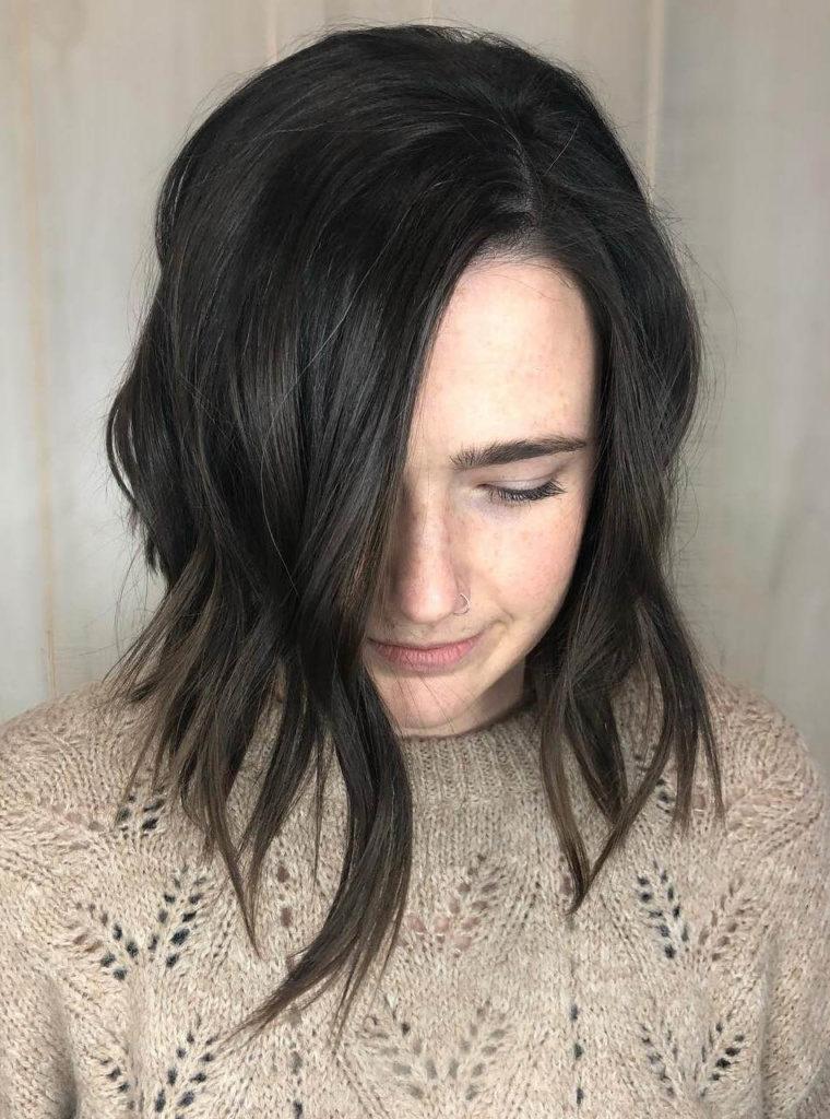 black hair asymmetrical hairstyles