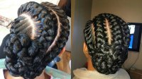 Braided Hairstyles Into A Bun | Fade Haircut