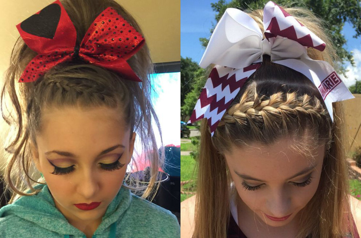 cute hairstyles cheer