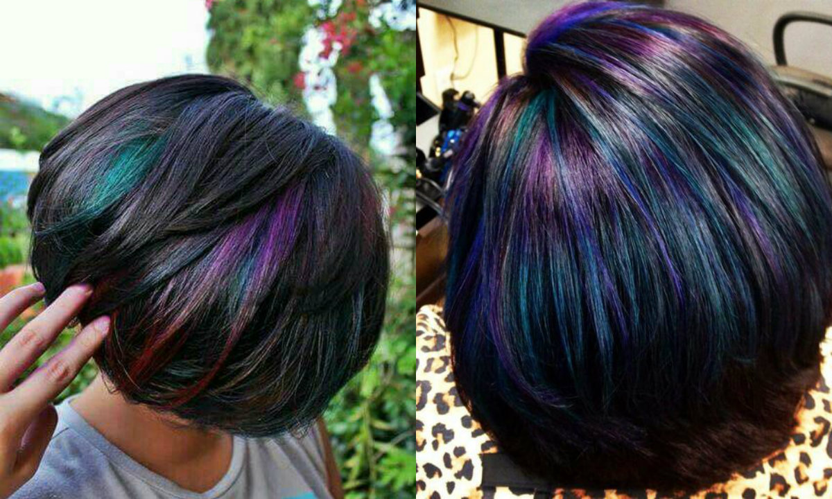 Oil Slick Hair Colors Pastel For Brunettes  Hairstyles Haircuts and Hair Colors On Hairdromecom