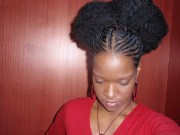 astounding black women afro puffs