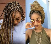 spectacular long box braids hairstyles