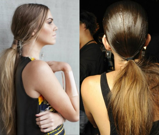 Tousled Messy Low Ponytail
