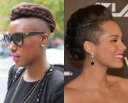 shaved sides black hairstyles