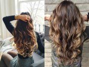 long brown highlighted hairstyles