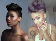 updo hairstyles shaved