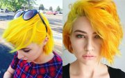 fierce yellow hair colors and hairstyles