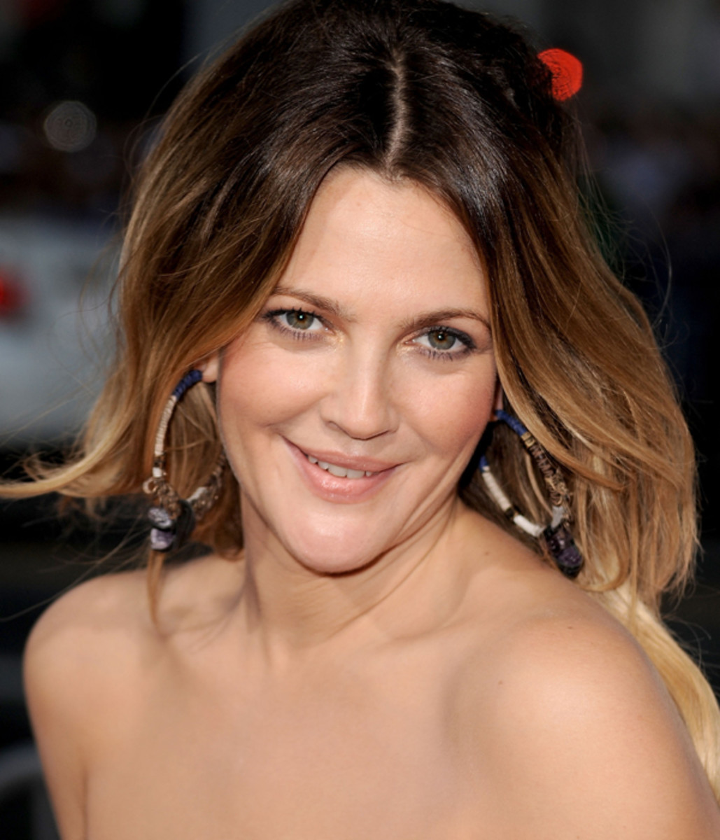 Drew Barrymore ombre hair colors for fall 2017
