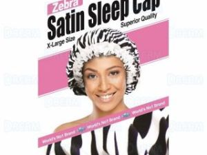 Dream World Zebra Satin Sleep Cap
