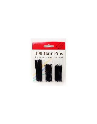Hair Pins 3 Sizes In Pack (Black Color)